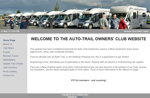 Autotrail Users Home Page