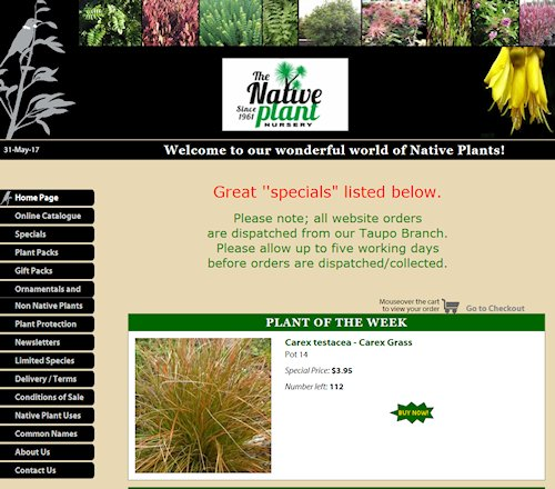 Native Plant Nursery Home Page